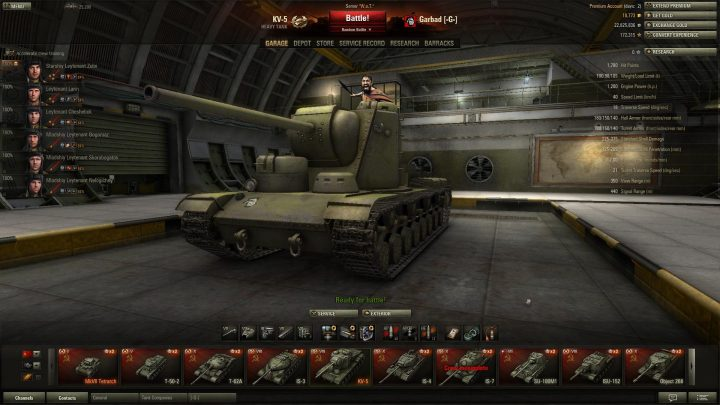World of Tanks account